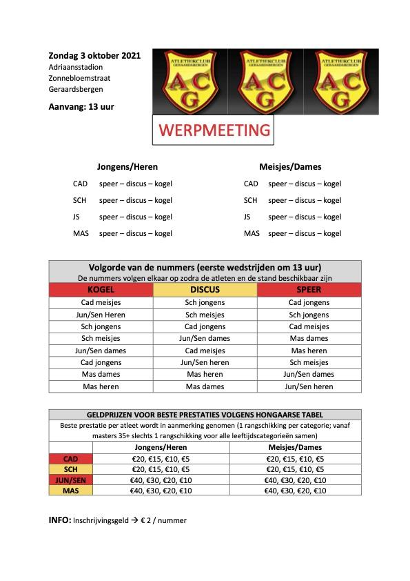 ACG Kampenmeeting - Afgelast @ Adriaansstadion Geraardsbergen | Geraardsbergen | Vlaams Gewest | België