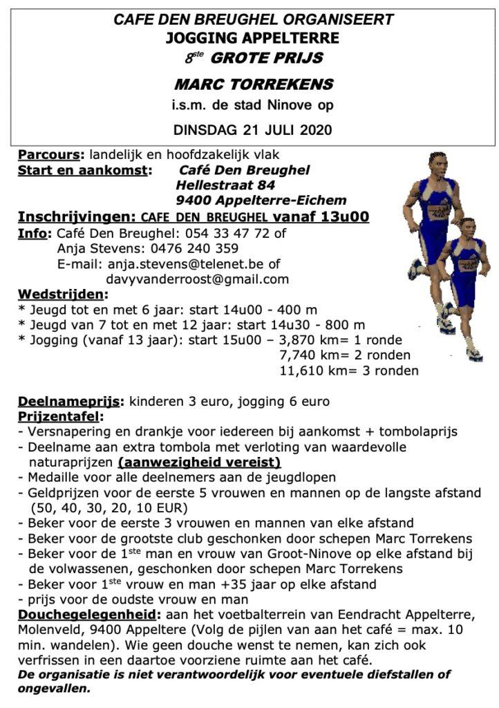 Appelterre Jogging @ Café Den Breughel | Ninove | Vlaams Gewest | België