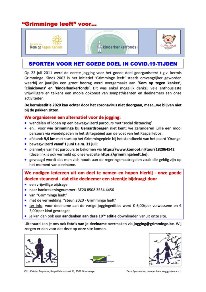Kom Op Tegen Kanker Grimminge in Covid.19 tijden @ Grimminge leeft | Geraardsbergen | Vlaanderen | België